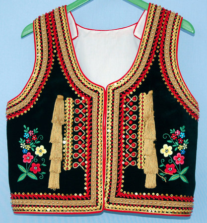 black vest with embroidery